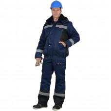 Куртка СПЕЦ на молнии цв. сер-крас-чер. тк. Томбой  (88-92/170-176)