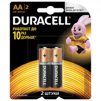 Батарейка LR06 АА DURACELL Basic алкалиновые 2 шт/уп