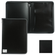 "Папка на молнии пластиковая  , А4, 335х242 мм, внутр. карман, черная, BRAUBERG ""Contract"""