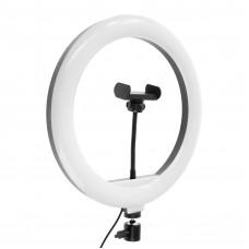 Светодиодная кольцевая лампа на штативе CXB-300, лампа 31 см, чёрная