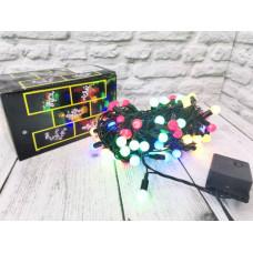 "Гирлянда 100 ламп ""Горох"" LED разноцвет., контроллер 8 реж, в коробке, 9м"