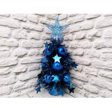 Елка декоративная, цвет: синий, 33 см