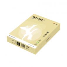 Бумага MAESTRO color А4, 80 г/м, 500 л. пастель желтая